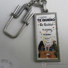 Coleccionismo de llaveros: LLAVERO ...Y GRITARE ! TE QUIERO LLAV-1547. Lote 34212611