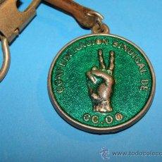 Coleccionismo de llaveros: LLAVERO POLÍTICO / SINDICAL. SINDICATO DEL METAL DE CCOO COMISIONES OBRERAS. . Lote 35017723