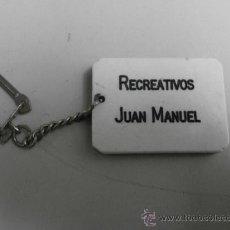 Coleccionismo de llaveros: LLAVERO RECREATIVOS JUAN MANUEL LLAV-2314. Lote 36456174