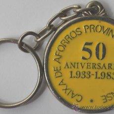 Coleccionismo de llaveros: LLAVERO 50 ANIVERSARIO CAIXA PROVINCIAL OURENSE. MIRA FOTO ADICIONAL. Lote 36857675