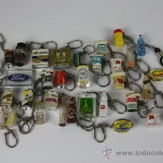 Coleccionismo de llaveros: LOTE DE 35 LLAVEROS DE MARCAS COMERCIALES AÑOS 70 / 80.. Lote 37650661