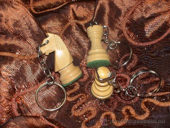 Coleccionismo de llaveros: Llavero de Ajedrez de madera: El Caballo blanco (2) - Foto 3 - 67985991