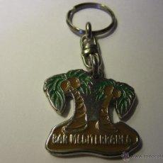 Colecionismo de porta-chaves: LLAVERO BAR MEDITERRANEO BADALONA. Lote 39911329