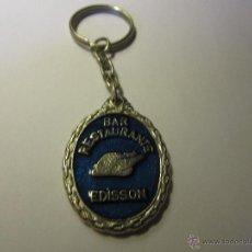 Coleccionismo de llaveros: LLAVERO BAR EDISSON MALAGA. Lote 39563067