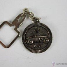 Coleccionismo de llaveros: M-212. LLAVERO EN METAL PLATEADO PANTON MOTOR SERVICIO OFICIAL SEAT MENORCA. 1931. . Lote 40120017
