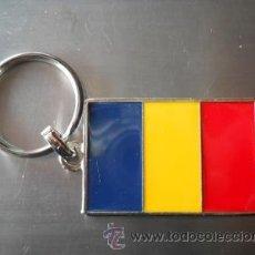 Colecionismo de porta-chaves: LLAVERO BANDERA RUMANIA. Lote 182558580