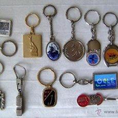 Coleccionismo de llaveros: LOTE 15 LLAVEROS METÁLICOS, ANTIGUOS CASI TODOS. Lote 41624074