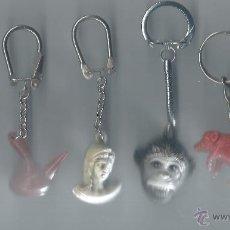 Coleccionismo de llaveros: LOTE 6 LLAVEROS DE PLASTICO DE LOS 80. Lote 42238930