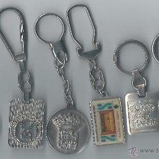 Coleccionismo de llaveros: LOTE 6 LLAVEROS ANTIGUOS DE BANCOS. Lote 42240524