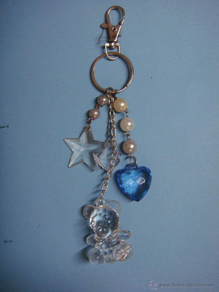 color atractivo calidad superior baratas para la venta LLavero con osito y abalorios. Estrellas y corazones.