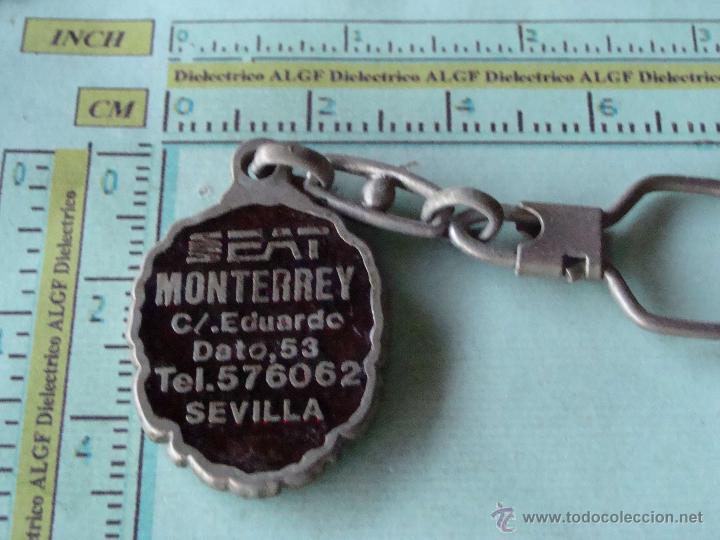 Coleccionismo de llaveros: LLAVERO DE COCHES MOTOS. SEAT CONCESIONARIOS SEVILLA - Foto 2 - 43670753