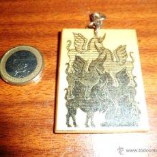 Coleccionismo de llaveros: LLAVERO DIBUJOS DE UNICORNIOS EN MADERA. Lote 46313866