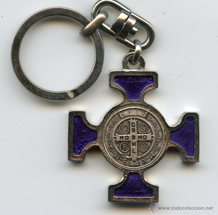 2cb6cb1d485 llavero cruz de san benito de nursia lacada - Buy Old Keyrings and ...