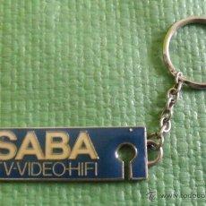 Coleccionismo de llaveros: LLAVERO PUBLICITARIO SABA TV-VIDEO-HIFI. Lote 47116527
