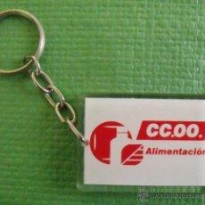 Coleccionismo de llaveros: LLAVERO SINDICATO COMISIONES OBRERAS ALIMENTACIÓN - CCOO. Lote 47118319
