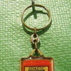 Colecionismo de porta-chaves: LLAVERO METÁLICO ESCUDO EQUIPO FÚTBOL ATHLETIC BILBAO. Lote 47120568