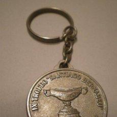 Coleccionismo de llaveros: LLAVERO IX TROFEO SANTIAGO BERNABEU 1987. Lote 47349858