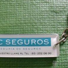 Coleccionismo de llaveros: LLAVERO PUBLICITARIO MBC SEGUROS - CORREDURÍA DE SEGUROS. Lote 47418598
