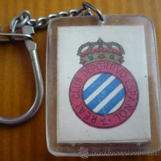Coleccionismo de llaveros: ANTIGUO LLAVERO REAL CLUB DEPORTIVO ESPAÑOL. RCD ESPANYOL. BAR PEPE. REUS. TARRAGONA.PLASTICO.FUTBOL. Lote 47960762