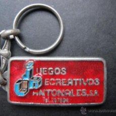 Coleccionismo de llaveros: LLAVERO ANTIGUO JUEGOS RECREATIVOS. Lote 48426317