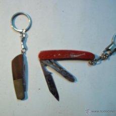 Coleccionismo de llaveros: 2 LLAVEROS - NAVAJITAS. Lote 48845842