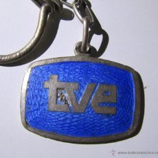 Coleccionismo de llaveros: ANTIGUO LLAVERO FRANQUISTA DE TVE TELEVISIÓN ESCUDO TRASERO. Lote 48936132