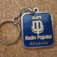 Colecionismo de porta-chaves: LLAVERO COPE RADIO POPULAR ALICANTE LLAV-5402. Lote 209579892
