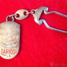 Coleccionismo de llaveros: ANTIGUO LLAVERO DE GINEBRA LARIOS.. Lote 49977613