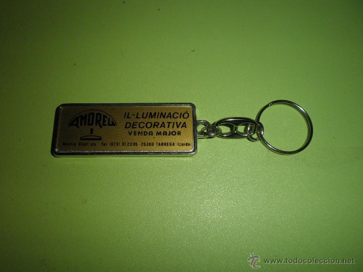 LLAVERO ANTIGUO AMOREL ILUMINACIO DECORATIVA TÁRREGA LLEIDA (Coleccionismo - Llaveros)