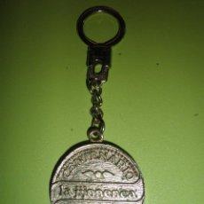 Coleccionismo de llaveros: LLAVERO ANTIGUO METÁLICO CENTENARIO LA JIJONENCA 100 AÑOS DE TRADICIÓN. Lote 50414960