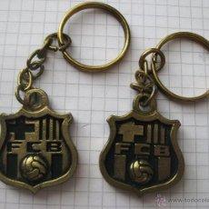 Coleccionismo de llaveros: LOTE LLAVEROS ANTIGUOS FUTBOL CLUB BARCELONA . Lote 50905304