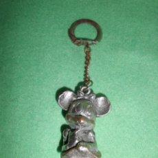 Coleccionismo de llaveros: RARISIMO ANTIGUO LLAVERO FIGURA MINNIE MOUSE MICKEY WALT DISNEY PLASTICO CROMADO AÑOS 60. Lote 50982666