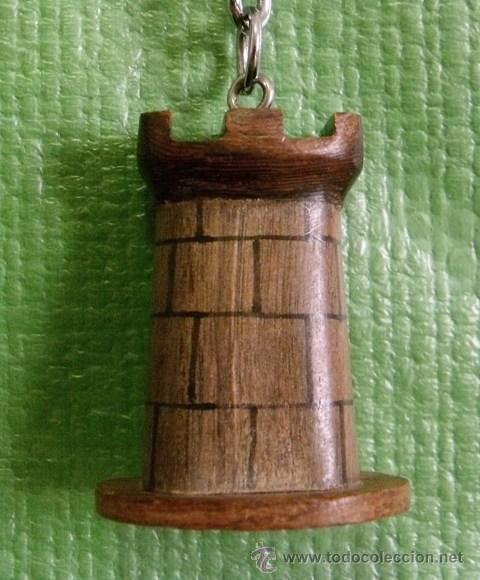 Coleccionismo de llaveros: Llavero Figura Madera Torre Castillo - Foto 2 - 51203031