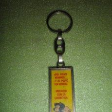 Coleccionismo de llaveros: LLAVERO ANTIGUO METÁLICO MAFALDA DIBUJOS ANIMADOS. Lote 51424664