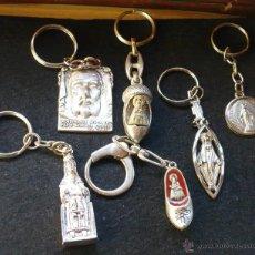 Coleccionismo de llaveros: 6 LLAVEROS RELIGIOSOS. Lote 53794631