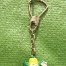 Coleccionismo de llaveros: LLAVERO FIGURA GOMA PVC KRUSTY EL PAYASO - THE SIMPSONS (LOS SIMPSON). Lote 54470683