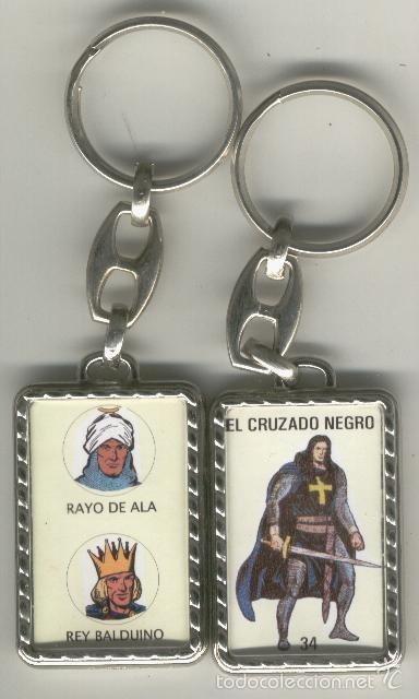 LLAVEROS COMIC ESPAÑOL: EL CRUZADO NEGRO (Coleccionismo - Llaveros)