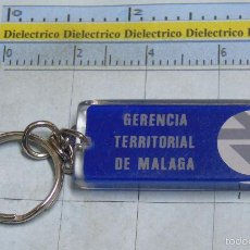 Coleccionismo de llaveros: LLAVERO DE TRENES FERROCARRILES. RENFE. GERENCIA TERRITORIAL MÁLAGA AUTO EXPRESO. Lote 56929529