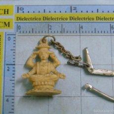 Coleccionismo de llaveros: LLAVERO DE MINIATURAS. FIGURA FIGURITA BUDISTA HINDUISTA. Lote 56982078