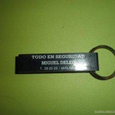 Coleccionismo de llaveros: LLAVERO ANTIGUO TODO EN SEGURIDAD MIGUEL DELEO. Lote 57412978