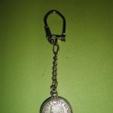 Coleccionismo de llaveros: LLAVERO METÁLICO ANTIGUO MONEDA CIEN PESETAS. Lote 57413684