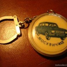 Coleccionismo de llaveros: ANTIGUO LLAVERO DE COLECCION PLASTICO RUSO URSS COCHE AUTOMOVIL MOCKB 412. Lote 57561012