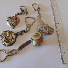 Coleccionismo de llaveros: LOTE DE 4 LLAVEROS: TE QUIERO, TERESA'S KEY, ELEGANCIA JOVEN (PANTALONES) Y VISTAS DE MALLORCA. Lote 57684094