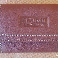 Coleccionismo de llaveros: LLAVERO DE PIEL 'PETUSCO'. ENVÍO: 1,30 € *.. Lote 61481007