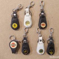 Coleccionismo de llaveros: LOTE 7 LLAVEROS DE COCHE EN PIEL CON EL LOGO DE CADA MARCA. Lote 65027687