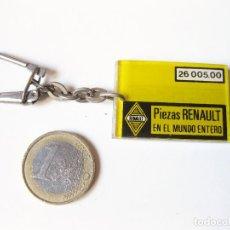 Collectionnisme de portes-clés: LLAVERO PUBLICITARIO DE RENAULT PIEZAS DE RECAMBIO EN EL MUNDO ENTERO - AÑOS 80. Lote 65034387