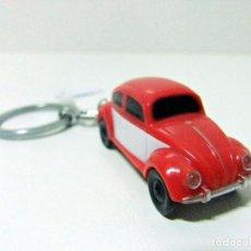 Coleccionismo de llaveros: LLAVERO VOLKSWAGEN BEETLE VW ESCARABAJO LED - POLYFLAME - COCHE PLÁSTICO ESCALA 1:87 APROX. . Lote 69516601