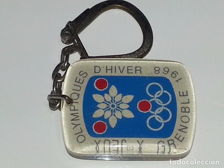 Antiguo Llavero Juegos Olimpicos De Invierno Grenoble Francia Ano 1968 Prueba Descenso