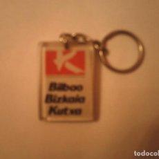 Coleccionismo de llaveros: LLAVERO BILBAO BIZKAIA KUTXA. Lote 74751187