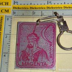 Coleccionismo de llaveros: LLAVERO DE TURISMO. ALCOY, FIESTAS MOROS Y CRISTIANOS. FILA MAGENTA. Lote 75324751